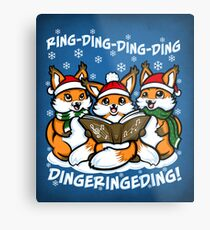 """""""What does the Fox Sing"""" Metal Print"""