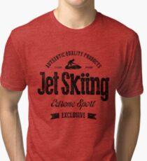 JetSkiing Extreme Sport Art noir T-shirt chiné