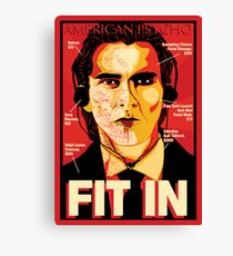 American Psycho: Fit In Movie Poster Canvas Print