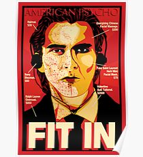 Póster American Psycho: Fit In Movie Poster