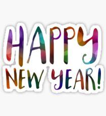 happy new year bokeh Sticker