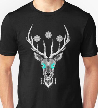 Geometric Silver Deer T-Shirt