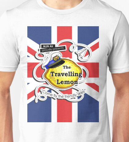 The Travelling Lemon - Union Jack edition Unisex T-Shirt