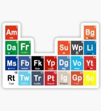 Periodic Table of Social Media Sticker
