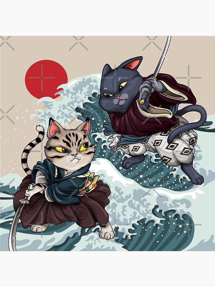 Samurai Cat Brawl by Sasha-Arts
