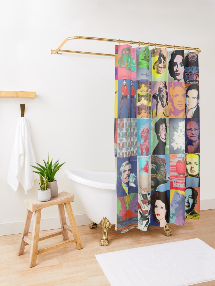 Alternate view of Andy Warhol Shower Curtain