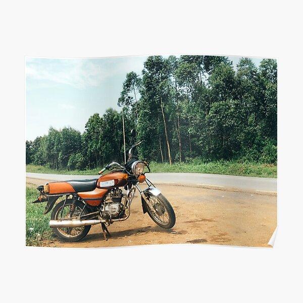 African Boda Boda Bike Poster