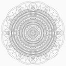 Tut Mandala - Color Your Own T-Shirt by TheMandalaLady