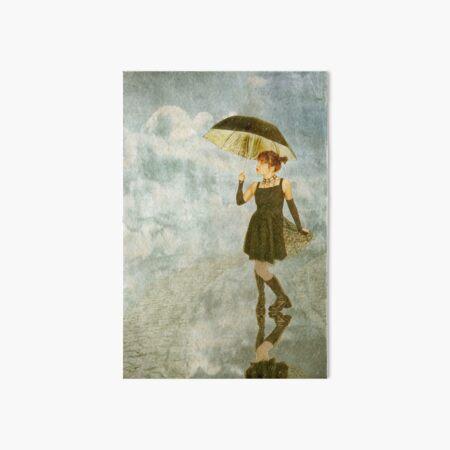 Pretty Girl with Umbrella Art Board Print