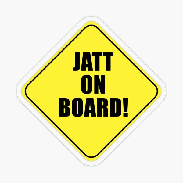 JATT ON BOARD! Transparent Sticker