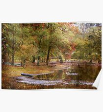 Mississippi Lake in Autumn Poster