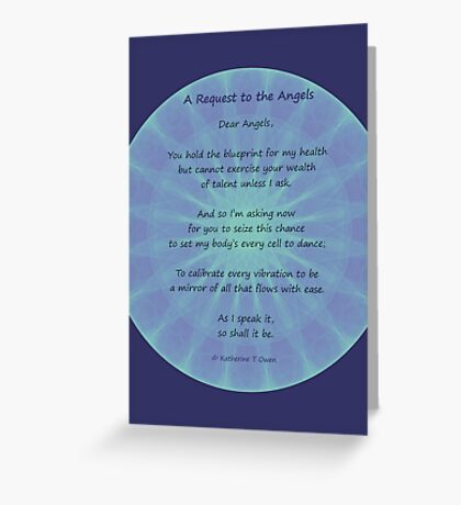 Angel Poem Healing Card Greeting Card
