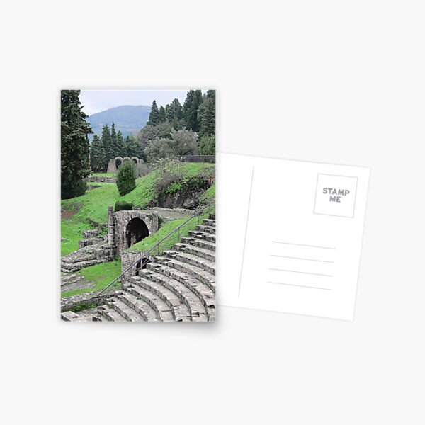 Roman Amphitheatre, Fiesole, Tuscany, Italy Postcard