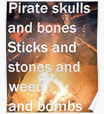 Pirates, Skulls, And Bones Poster