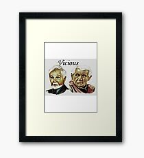 Derek Jacobi & Ian McKellen - Vicious Framed Print