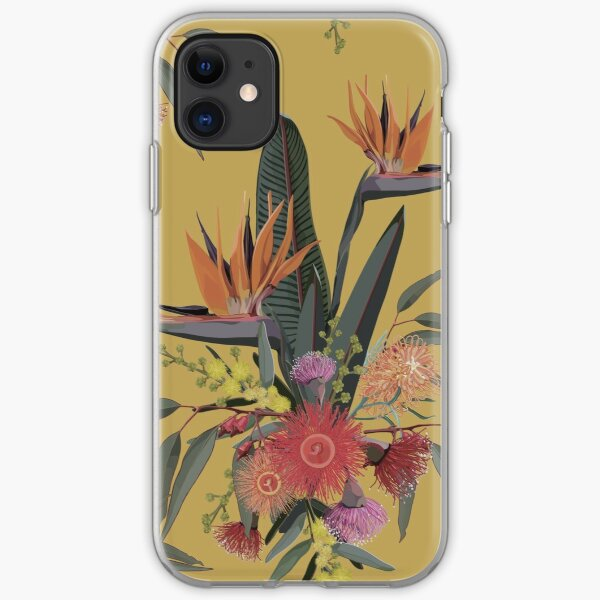 Australian Tropical Bloom -  Vintage Warm Palette iPhone Soft Case
