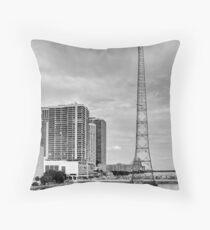 WQAM Radio Tower Throw Pillow
