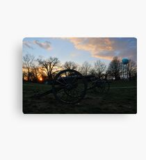 Silent Guns At Manassas Canvas Print