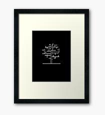 Rectangle Tree Framed Print
