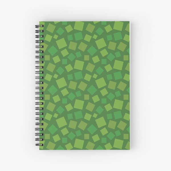 Animal Crossing style grass Spiral Notebook