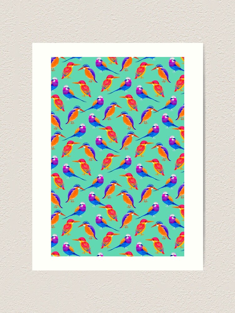 Alternate view of Colorful Birds Art Print