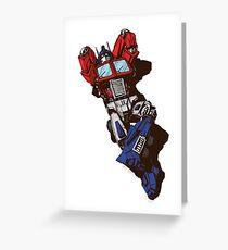 Optimus Prime  Greeting Card