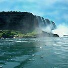 Misty Waterfall by ValSteve59
