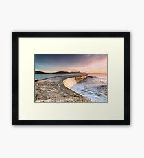 Sunkissed Cobb at Lyme Regis Framed Print