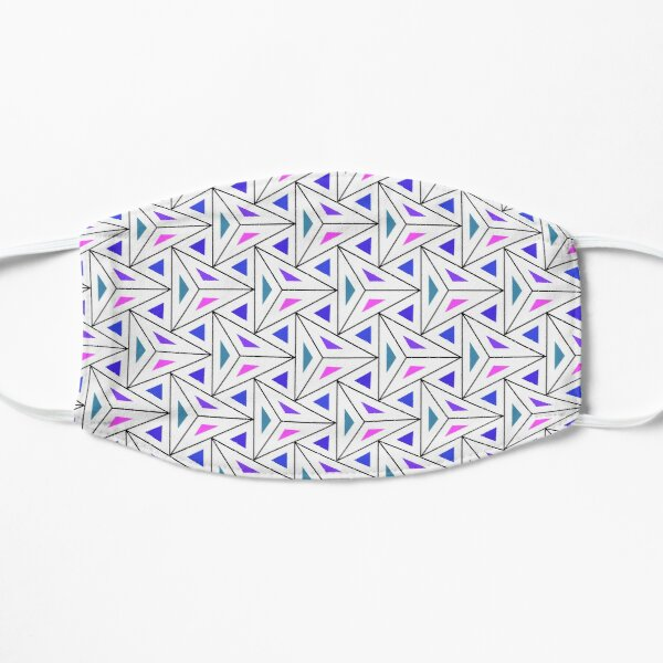 Triangles colorful Light Background Pattern, pyramids colorful Flat Mask