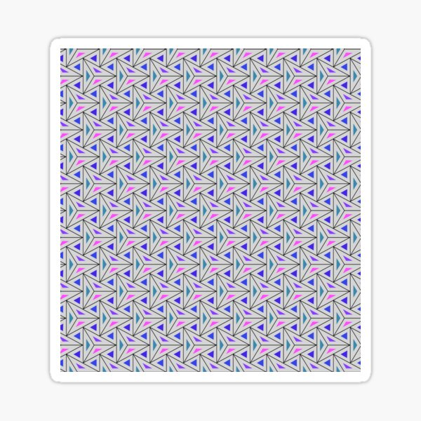 Triangles colorful Light Background Pattern, pyramids colorful Sticker