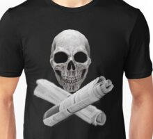 Skull & Newspapers Unisex T-Shirt