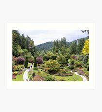 Sunken Garden Art Print