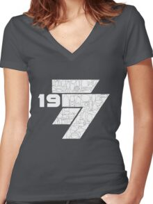 1977 Women's Fitted V-Neck T-Shirt