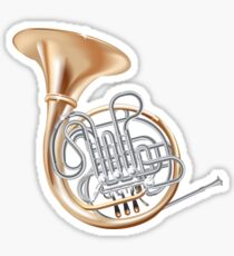 French Horn Sticker