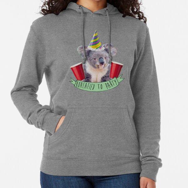 Koala-fied a la fiesta Sudadera ligera con capucha