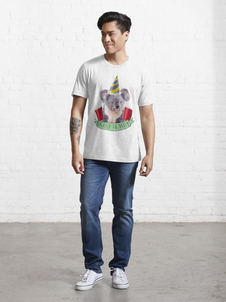 Vista alternativa de Camiseta esencial Koala-fied a la fiesta