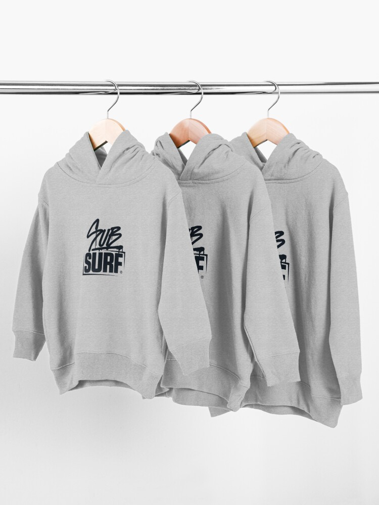 Alternate view of Sub Surf Logo - Sub way Surfers Toddler Pullover Hoodie