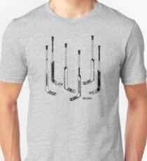 Goalie Hockey Sticks Black Unisex T-Shirt