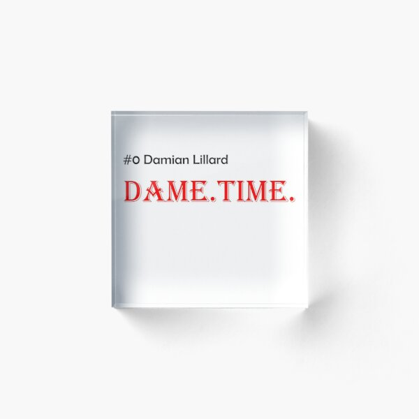 Dametime  Portland Trailblazer Damian Lillard Acrylic Block
