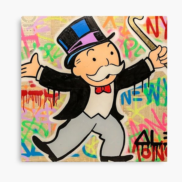 Monopoly man Canvas Print
