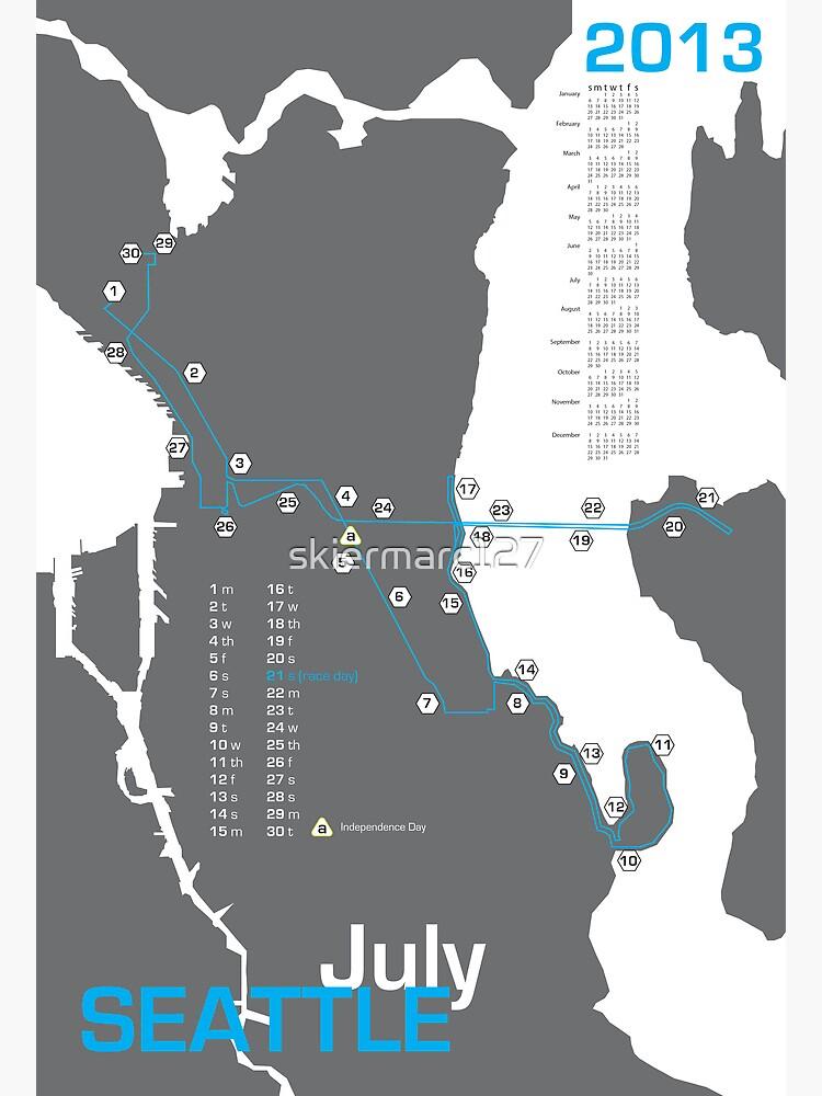 Seattle Marathon Map   Poster