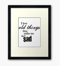 Sally Sparrow Quote Framed Print