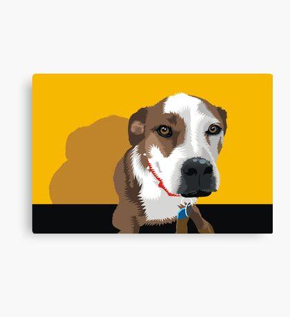 Polly the Wonder Dog Canvas Print
