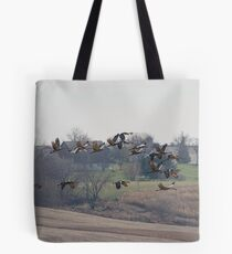 Farm Land Sandhill Cranes Tote Bag