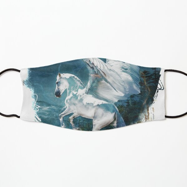 Flights of Fancy My Winged White Horse Kids Mask