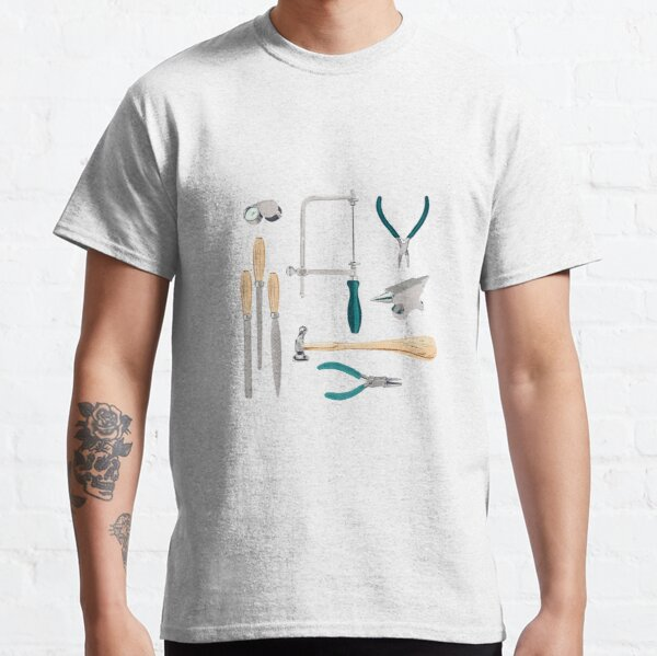 Jewellery artist and Goldsmith tools of the trade - white Classic T-Shirt