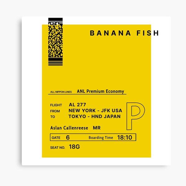 Pescado de plátano Lienzo