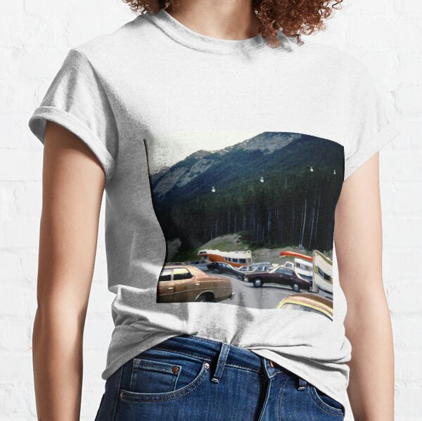 Vintage Cars and Trees Classic T-Shirt