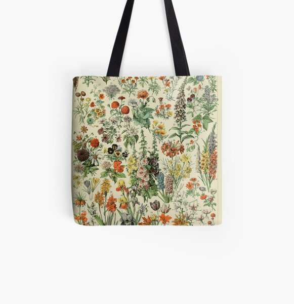 Vintage flowers All Over Print Tote Bag