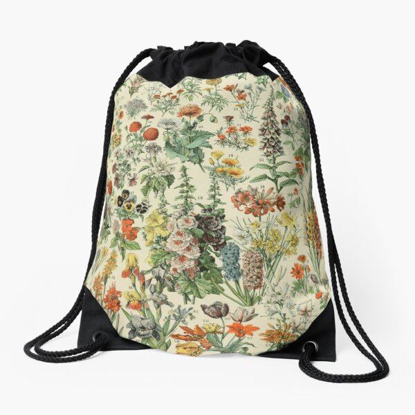 Vintage flowers Drawstring Bag